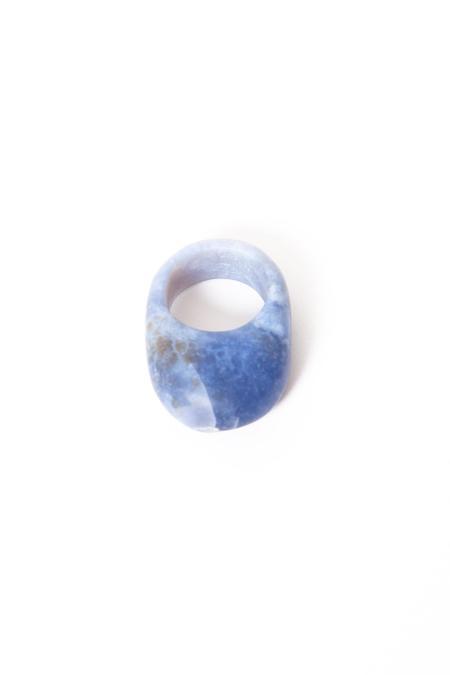 Margaret Hinge Chalcedony Egg Ring - Green