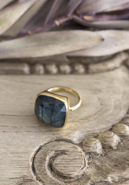 Lulu Designs Gold Vermeil and Labradorite Monterey Ring - Gold
