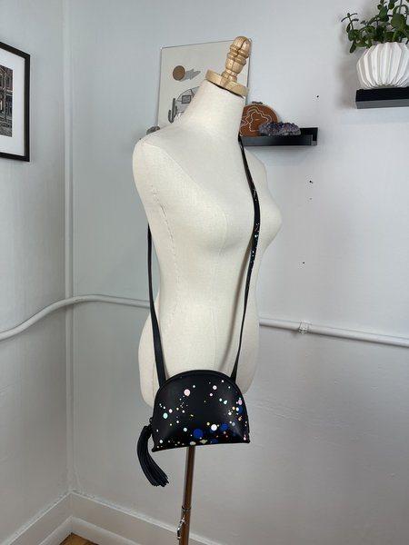 [pre-loved] Loeffler Randall Splatter Mini Pouch Bag - black multi