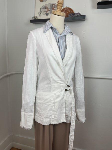 [pre-loved] Raquel Allegra Cotton Blazer - White