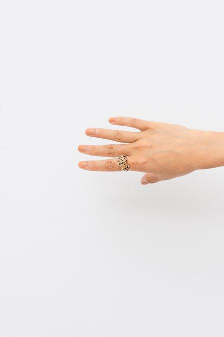 Pre-loved Embellished Tiger Ring - gold