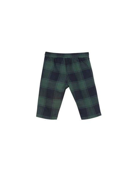 Kids bonton check baby pants - green