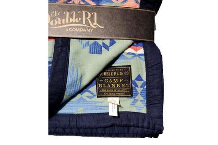 RRL Camp Blanket - Green/Navy Multi