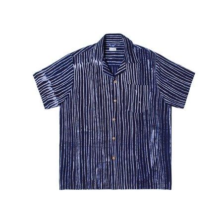 Post-Imperial Ijebu Shirt - Indigo/White