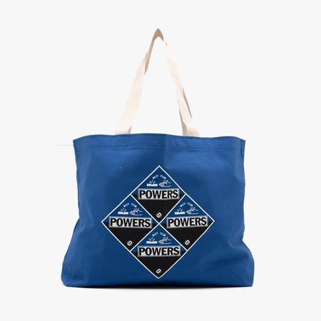 Unisex Powers Corrosion Canvas Tote Bag - Blue