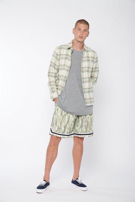 John Elliott Sly Straight Hem Flannel - Lone Pine Check
