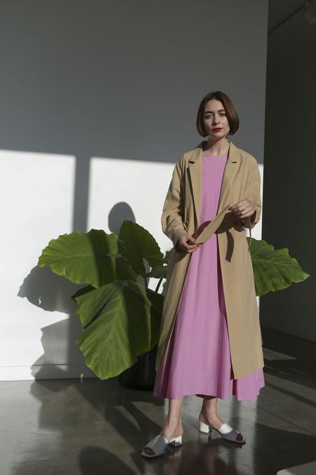 Sayaka Davis Feather Weight Coat in Sand Beige