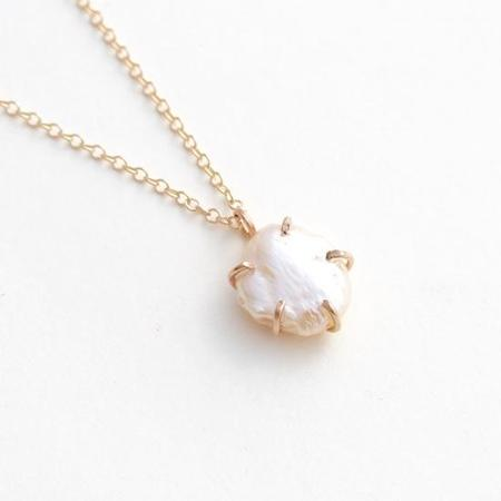 Alana Douvros Jewelry White Pearl Necklace - Gold