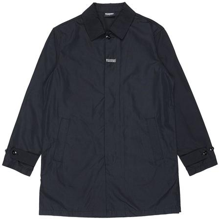 PLEASURES Delusion Trench Coat - Black