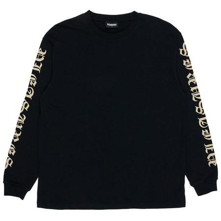PLEASURES Old E Heavyweight Long Sleeve - Black