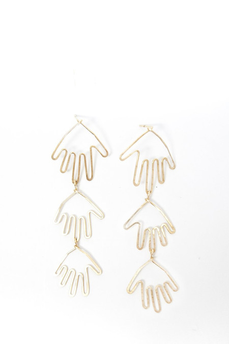Mary MacGill 14K Gold Filled Triple Hands Earrings