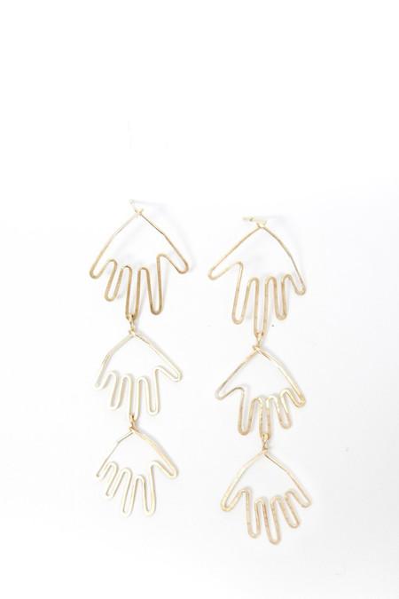 Mary MacGill 14K Gold Filled Triple Hands Earrings