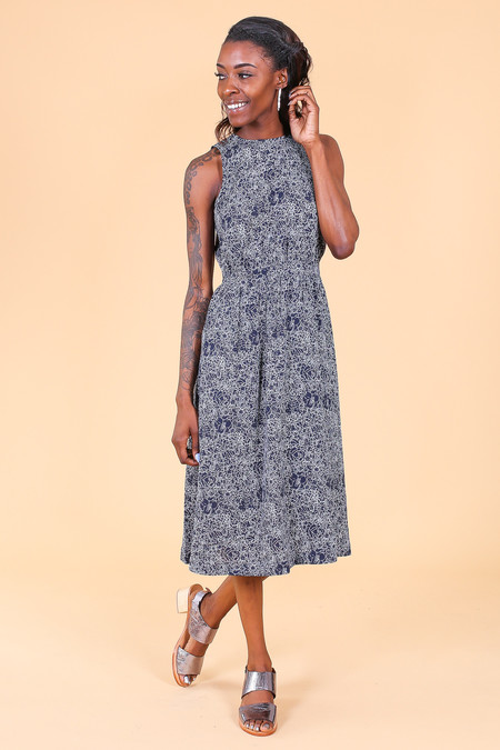 Steven Alan Fiona Dress in Navy