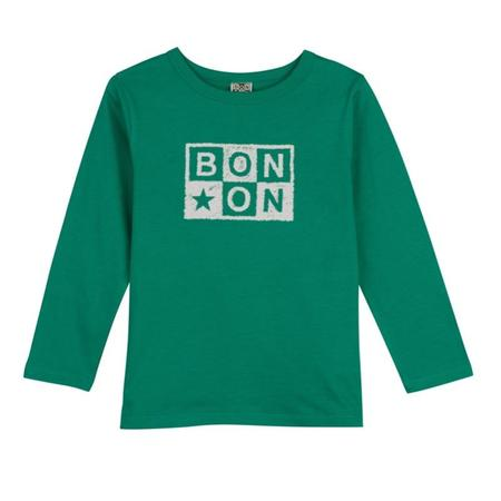 kids bonton logo long sleeve t-shirt - green