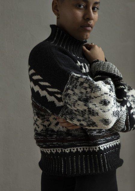 Nymane Nadia Sweater - Black/Grey