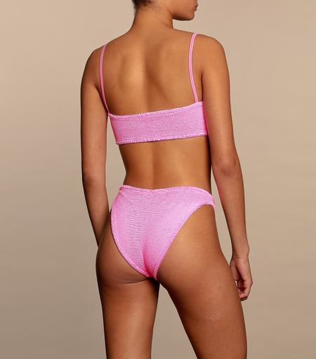 Hunza G Gigi Straps Bikini Set - Bubblegum Crinkle