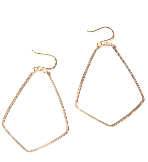 Sarah Dunn Gold Diamond Hoops