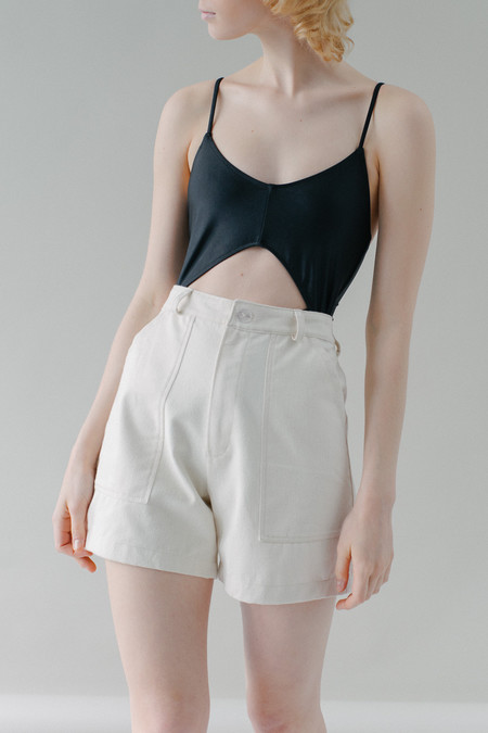 REIFhaus Mara Short in Natural Denim