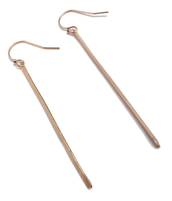 Sarah Dunn Gold Stick Earrings