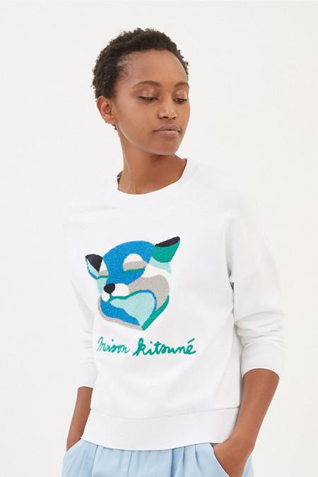 Kitsune Sweat Shirt Fox Ines Longevial | White