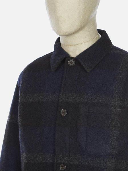 Universal Works Plaid Fleece Field Jacket - Black/Grey