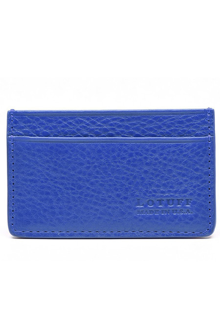 Lotuff Leather Credit Card Wallet - blue