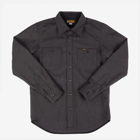Iron Heart IHSH-298-BLK Woolen Serge Work Shirt - black