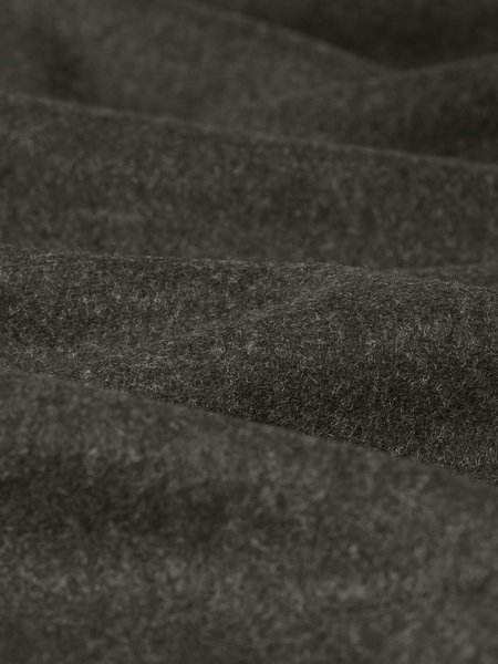Wax London Whiting Melton Wool Overshirt - Grey