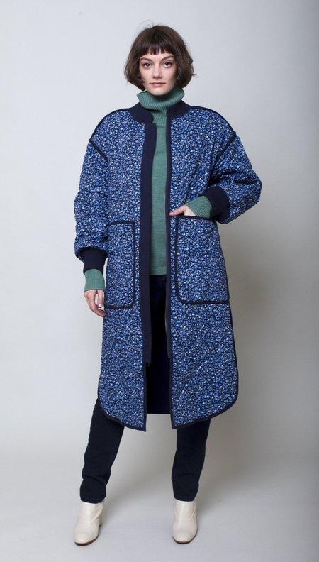 Apiece Apart Garreth Quilt Coat - Blue