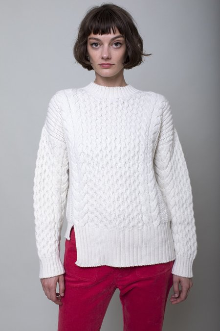 Apiece Apart Nuevo Anni Fisherman Sweater - White