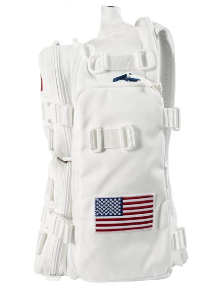Balenciaga Space Backpack - Embroidered NASA/White