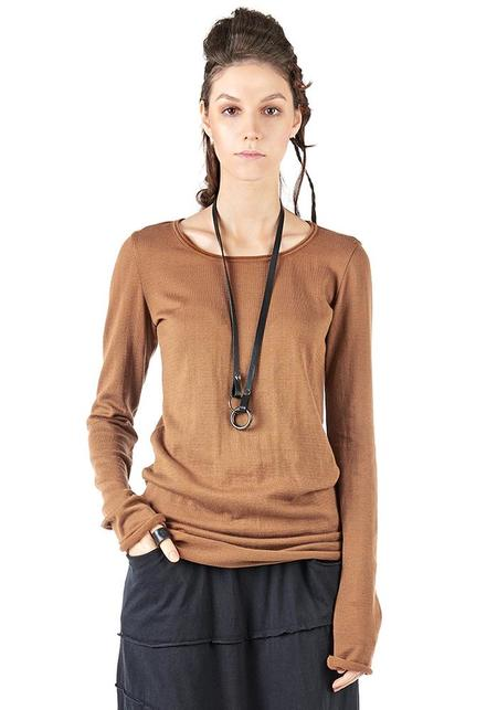 Studio B3 Renny Long Sleeve T-Shirt - CARAMEL
