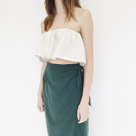 Johan Vintage Emerald Wrap Skirt