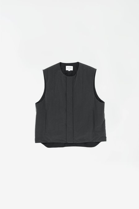 Still By Hand Padded nylon vest - ink black