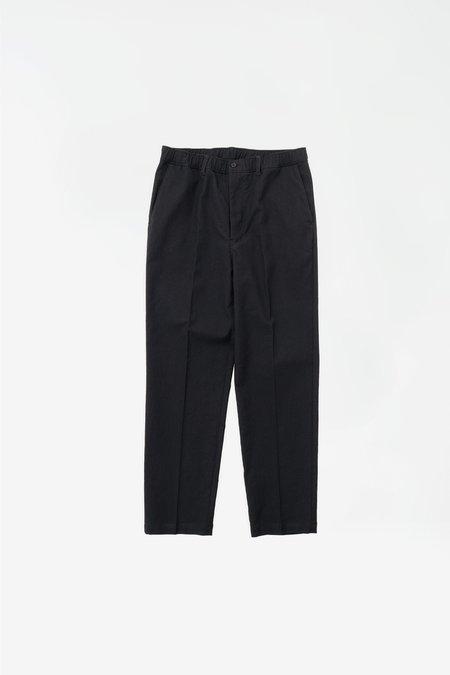 Still By Hand W/N slim tapered pants - ink black