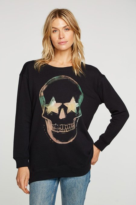 Chaser Dark Skull Sweatshirt - black