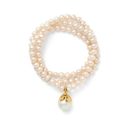 CC & CO by Catherine Canino Petal Necklace/Bracelet - Pearl