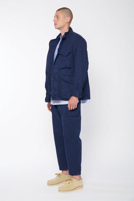 Sage de Cret 9/10 Length Military Pants - Navy