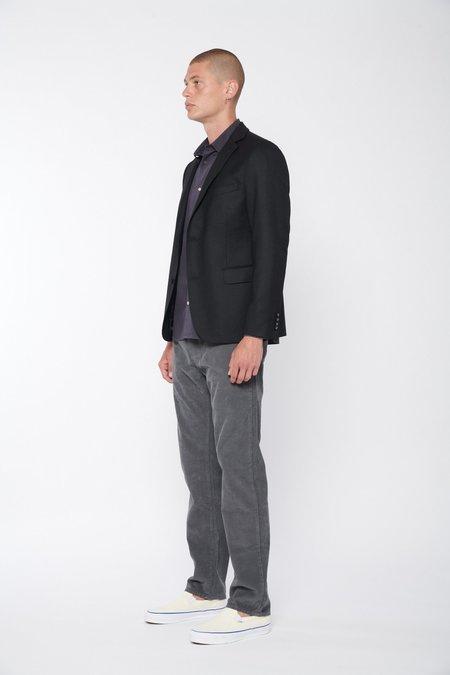 Officine Generale James Pigment Dyed Cotton Corduroy Pants - Charcoal