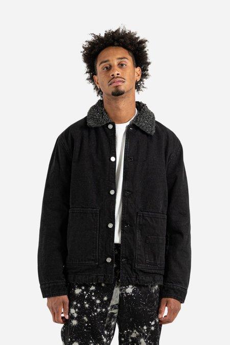 Schnayderman's Denim Sherpa Jacket - Washed Black