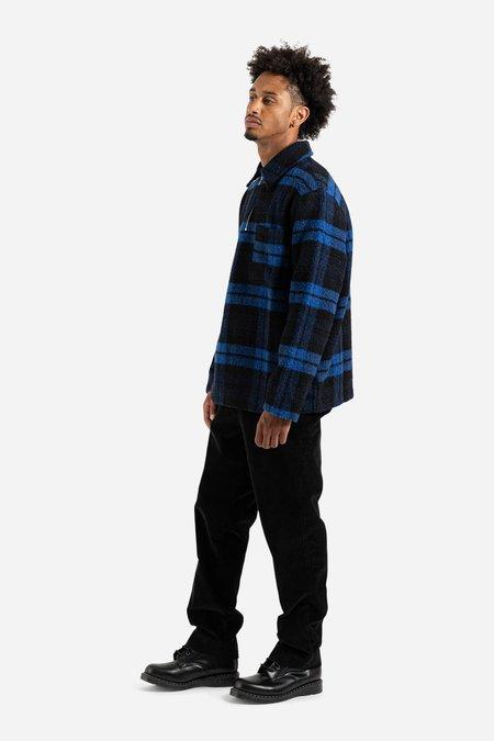 Schnayderman's Half Zip Wool Check Jacket - Blue/Black