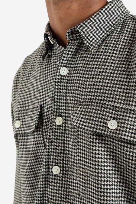 Schnayderman's Boxy Houndstooth Shirt - Black/Grey