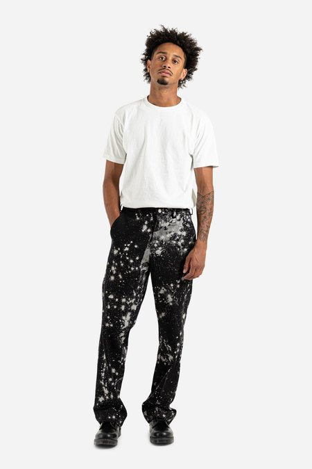 Schnayderman's Tailored Wide Sky Trousers - Dark Blue/Off White