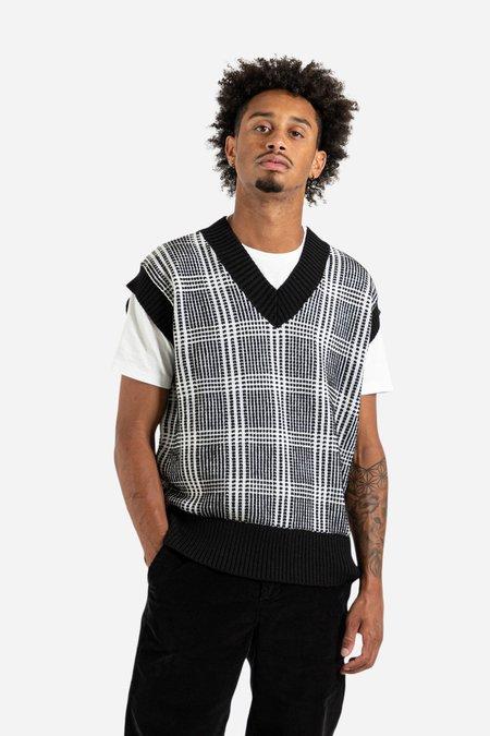 Schnayderman's Wool Check Vest - Black/White
