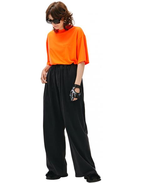 Balenciaga Oversize Worn-out Pants - Black