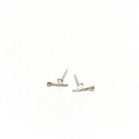 PILAR AGUECI Bloom Studs - Silver/Gold