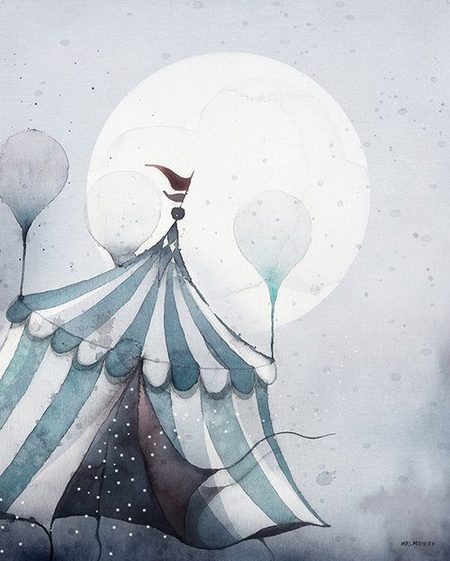 Mrs. Mighetto Flying Carnival - 40x50cm Limited Edition Print - CouCou Boston