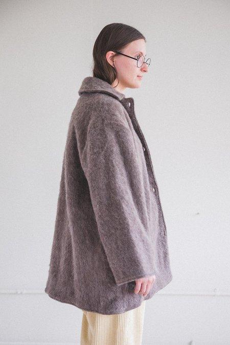Baserange Pyrenees  Melange Wool Coat - Brown