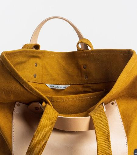 Immodest Cotton East West Pocket Tote