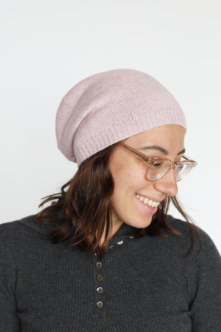 Autumn Cashmere Asymmetric Hat - Pink Heather